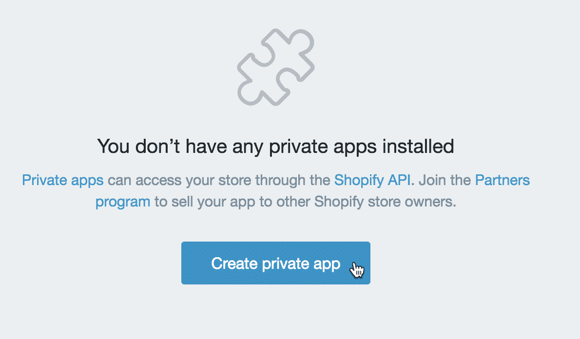 create app shopify
