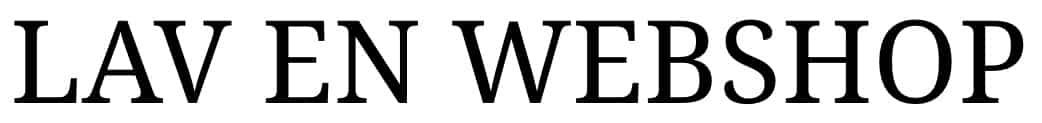 Lav en webshop